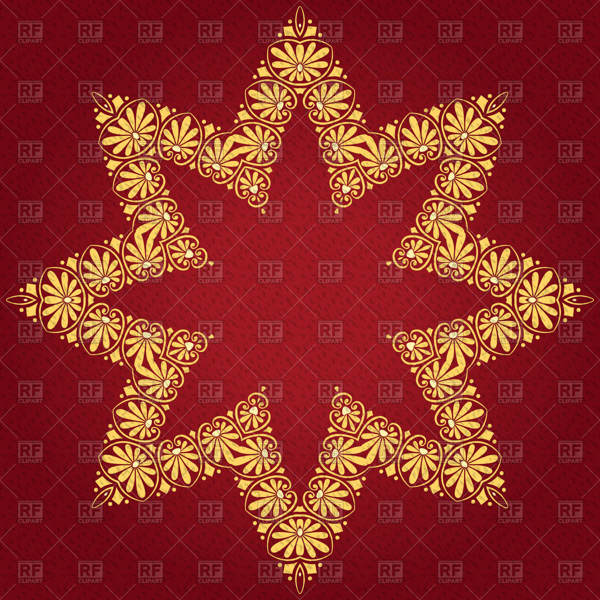 1200x1200 Golden Ornate Christmas Star Vector Image Vector Artwork Of