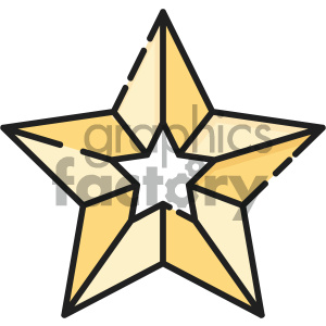 300x300 Royalty Free Christmas Star Vector Icon 403974 Vector Clip Art