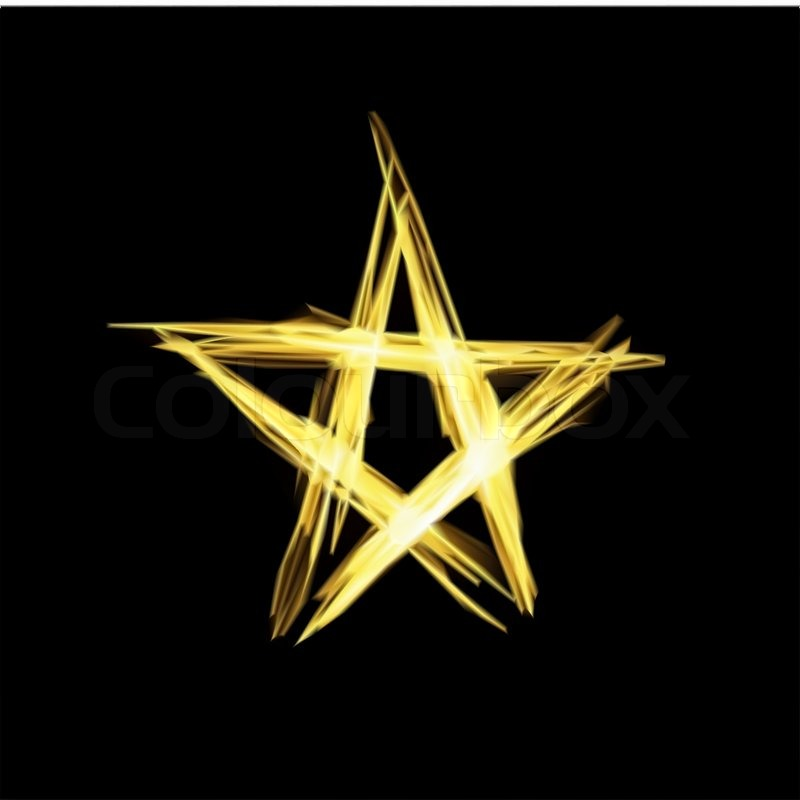800x800 Abstract Christmas Gold Star. Vector Illustration Stock Vector