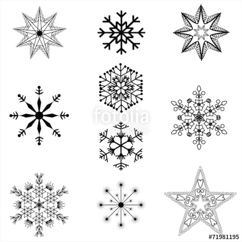 500x500 Filigree Christmas Star Silhouettes Stock Image And Royalty Free