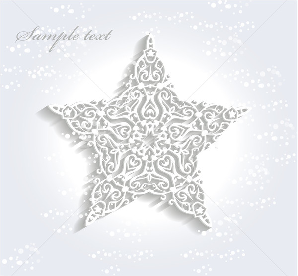 600x555 Beautiful Christmas Star Vector Illustration Petr Kopecky