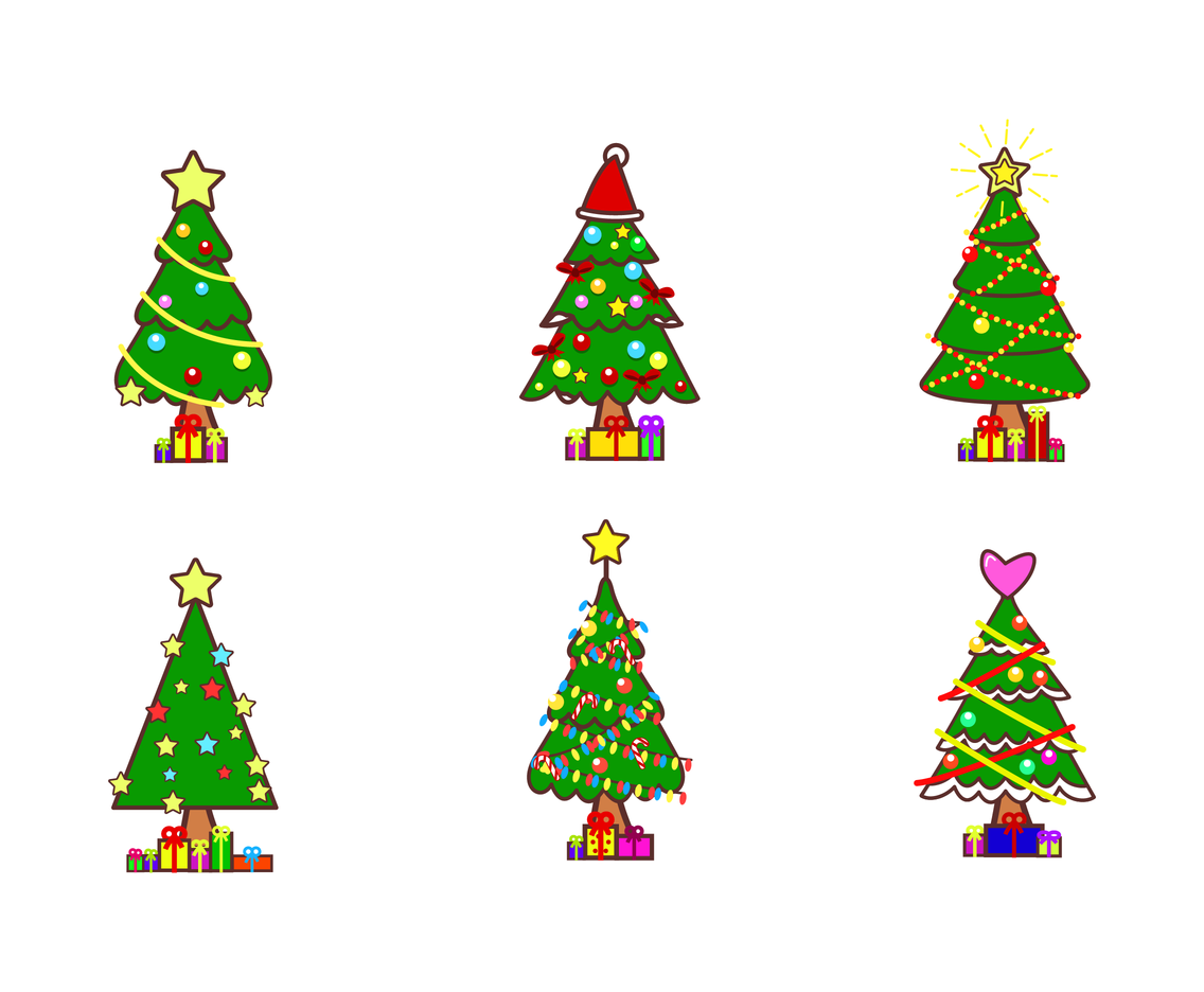 Christmas Tree Vector At Getdrawings Com Free For Personal Use