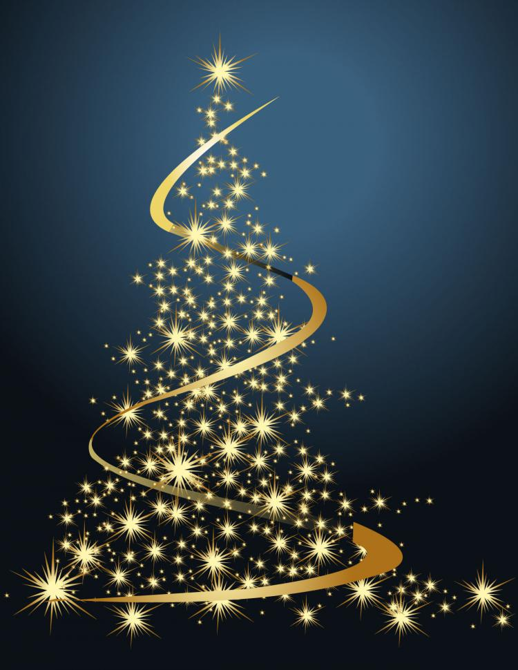750x970 Dream Bright Christmas Tree Vector Free Vector 4vector