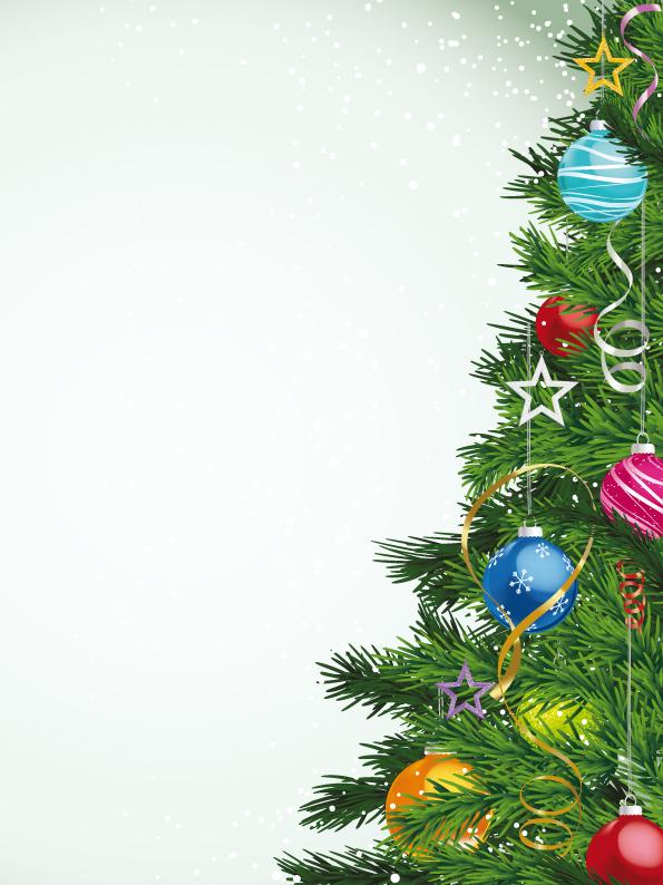 595x794 Local Christmas Tree Vector Free Vector 4vector