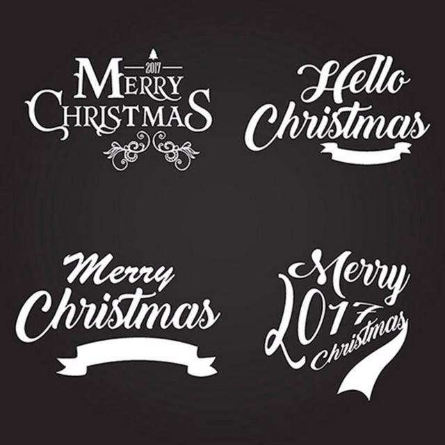 640x640 Christmas Typography Logo Designs, Black, White, Typography Png