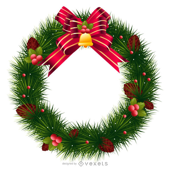 Christmas Wreath Vector.Christmas Wreath Vector At Getdrawings Com Free For