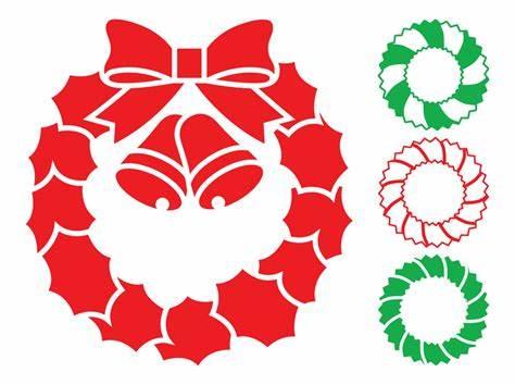 474x354 Christmas Wreath Vector Black. Ampquotchristmas Wreath Flying Reindeer