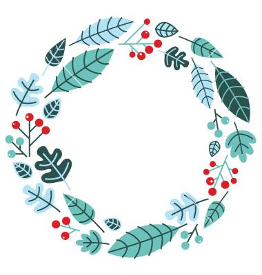 Christmas Wreath Vector Free