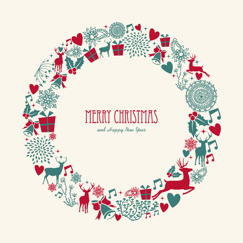 Christmas Wreath Vector Free At Getdrawings Com Free For Personal