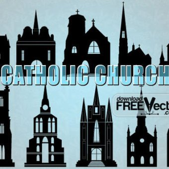 Church Vector Art