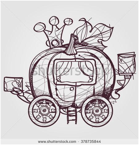 450x470 Cinderella Carriage Template Good Vector Horse Drawn