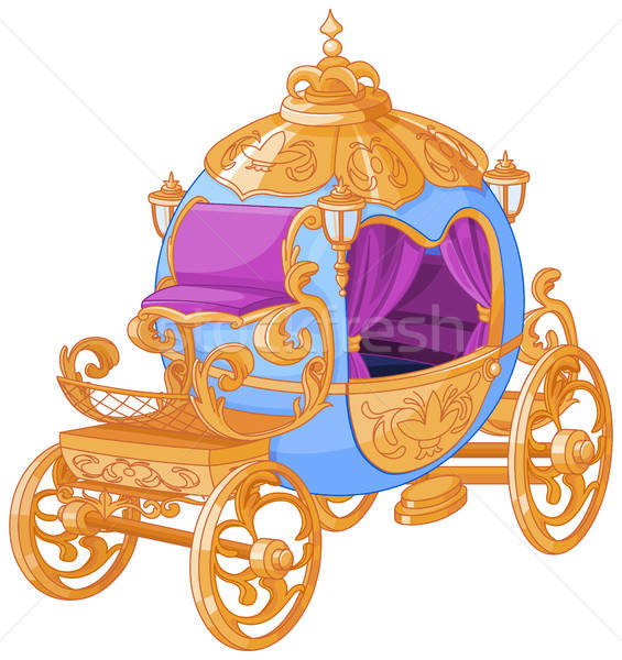 565x600 Cinderella Fairy Tale Carriage Vector Illustration Anna