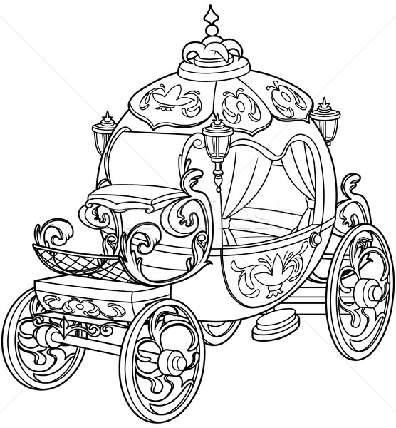556x600 Cinderella Fairy Tale Pumpkin Carriage Vector Illustration Anna