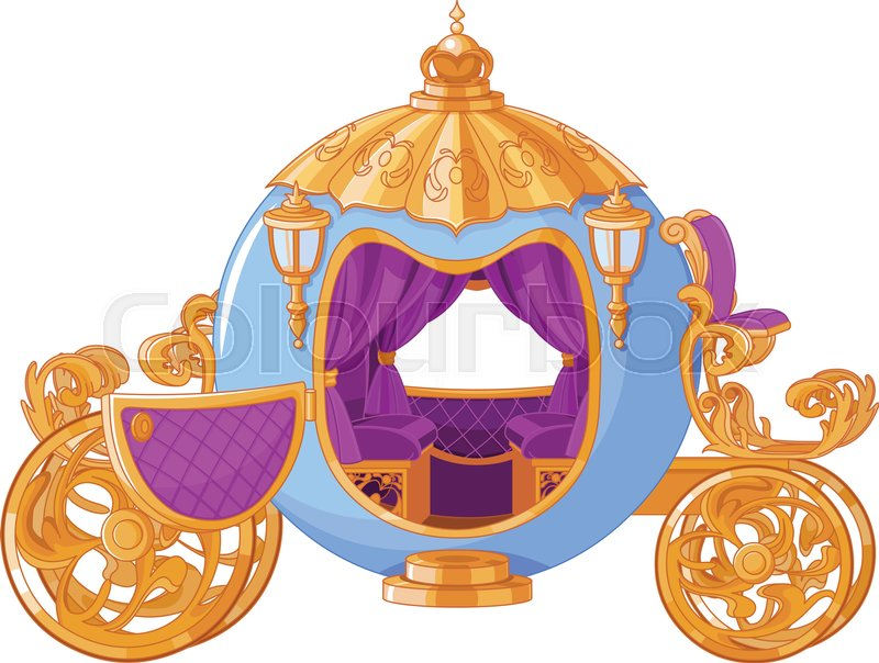 800x604 Illustration Of Cinderella Fairy Tale Carriage Stock Vector