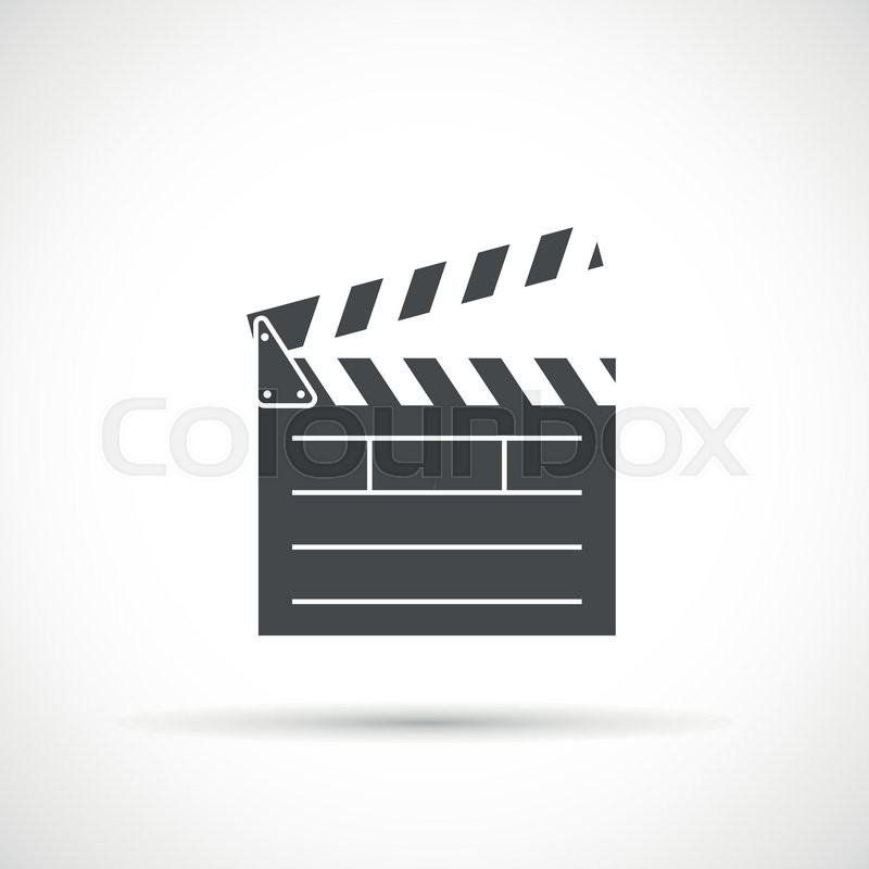 800x800 Clapper Board Icon. Film Clap Board Cinema Vector Stock Vector