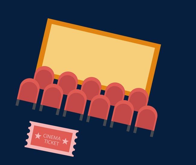 650x547 Cinema Scene With Movie Tickets, Watch Movie, Cinema, Vector Png
