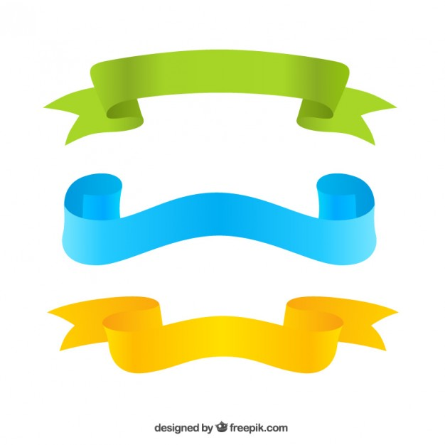 626x626 Three Colorful Ribbons Vector Free Download
