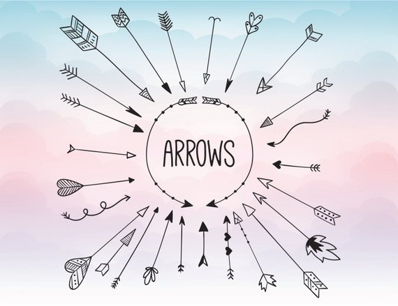 570x439 Arrow Svg Clipart Arrow Monogram Svg Circle Arrow Svg Etsy
