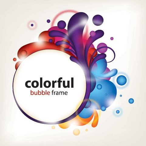 481x481 Colorful Splashed Frame Circle Banner Free Vector Download 328391