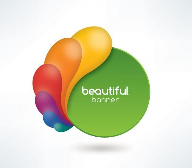 626x547 Colorful Swirls Green Circle Banner