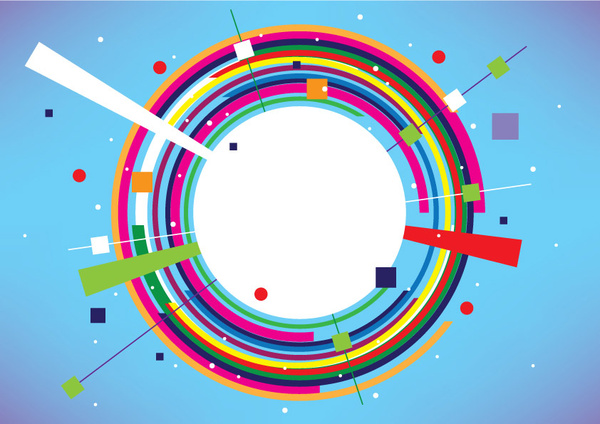 600x424 Abstract Colorful Circle Banner Free Vector In Adobe Illustrator