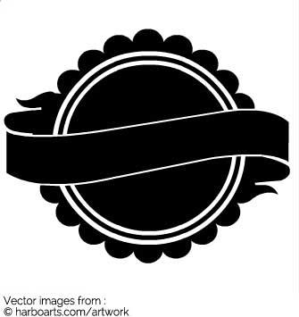 335x355 Download Banner Label Circle