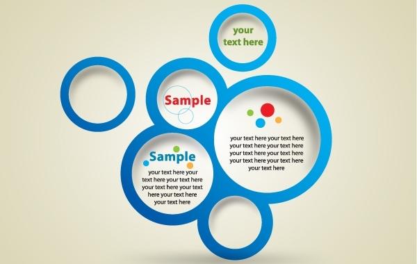 600x380 Free Vectors Template Blue Circle Banner Syedmaaz
