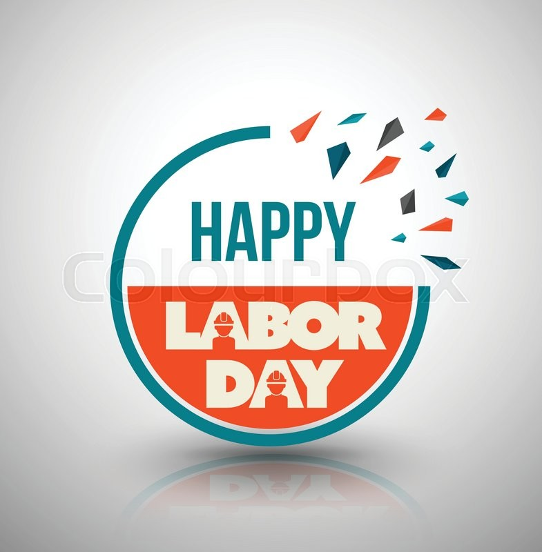 785x800 Happy Labor Day Circle Banner. Vector Illustration. Can Use For