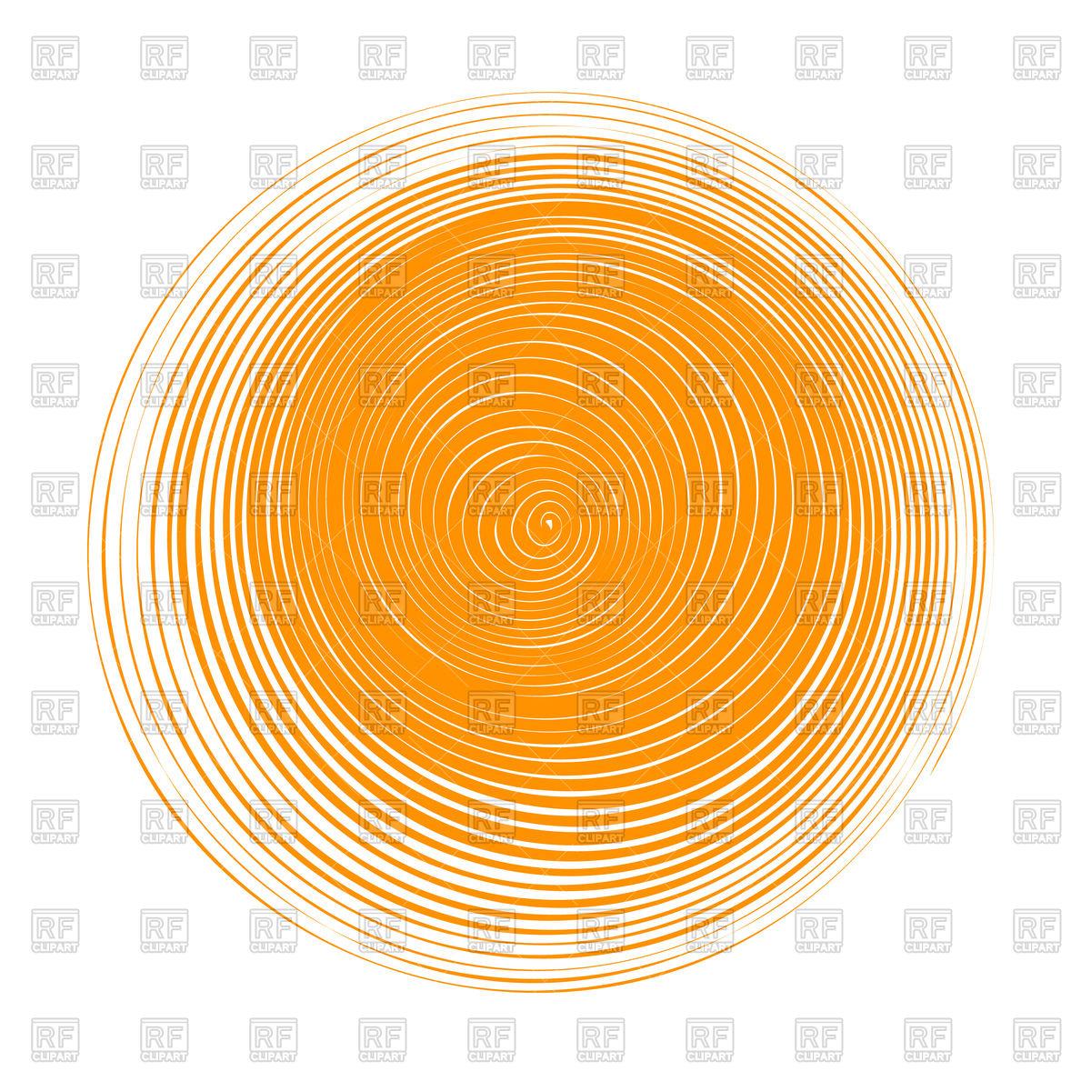 1200x1200 Abstract Orange Circle Banner Vector Image Vector Artwork Of