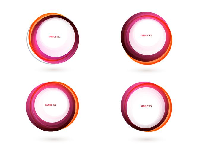 700x490 Pink Circle Banner Vector Pack