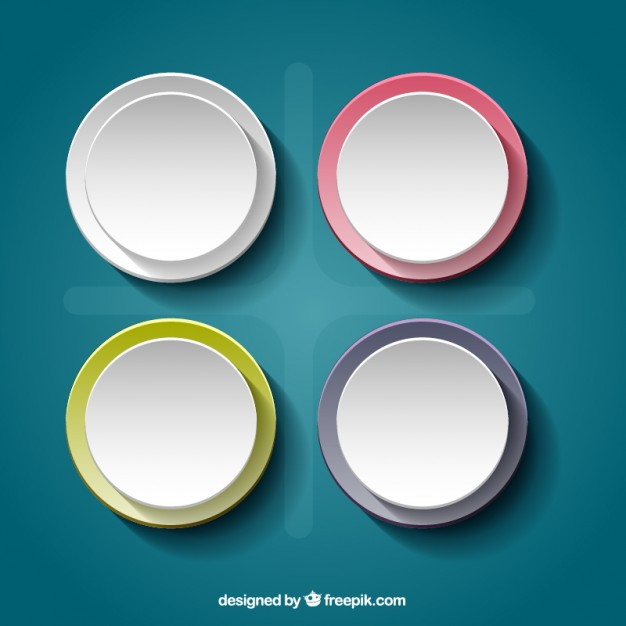 626x626 Round Banners Vector Free Download