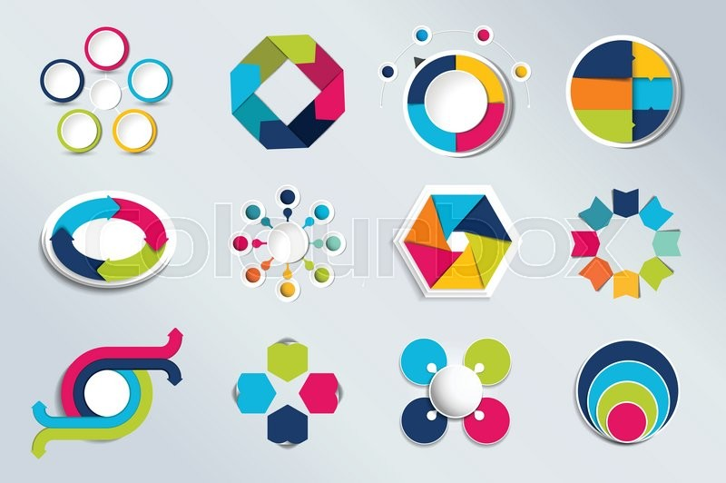 800x532 Set Of Circle Infographics. Element Connected To Circle Banner