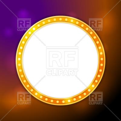 400x400 Shining Blank Circle Retro Light Banner Vector Image Vector