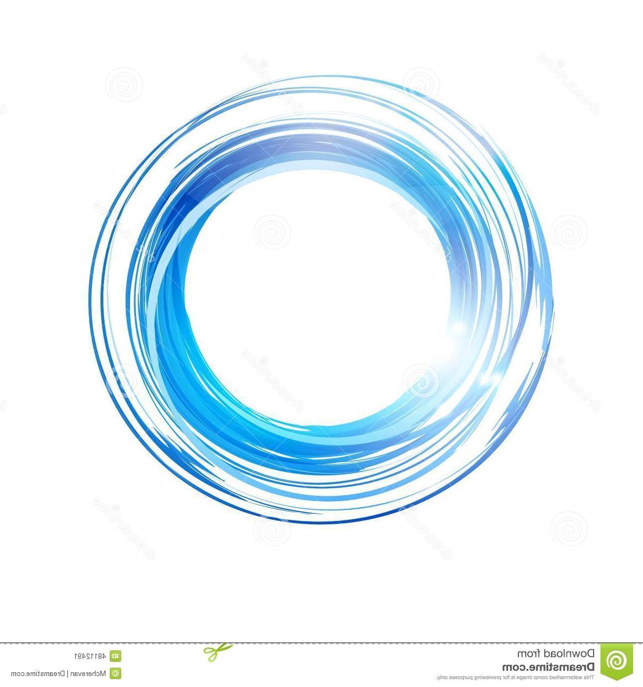 1300x1390 Unique Vector Abstract Blue Circle Banner Logo Design Template