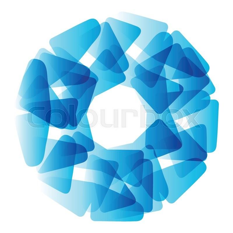 800x800 Vector Abstract Blue Circle. Banner, Flyer Or Logo Design Template