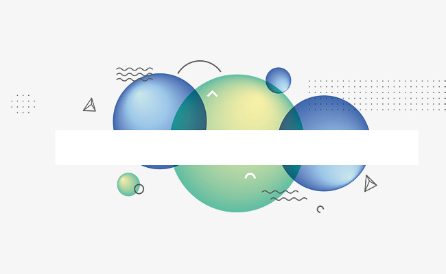 650x400 Blue Circle Banner, Vector Png, Business Banner, Blue Circle Png