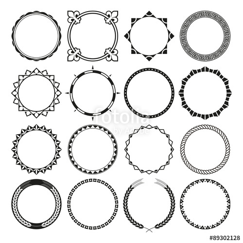 500x500 Collection Of Round Decorative Border Frames With Clear Background