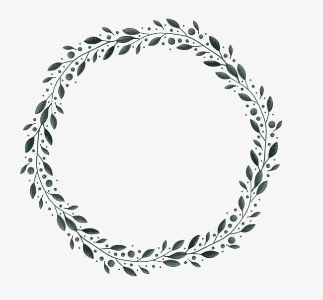 650x604 Leaves Border, Circular Border, Vector Border, Creative Borders
