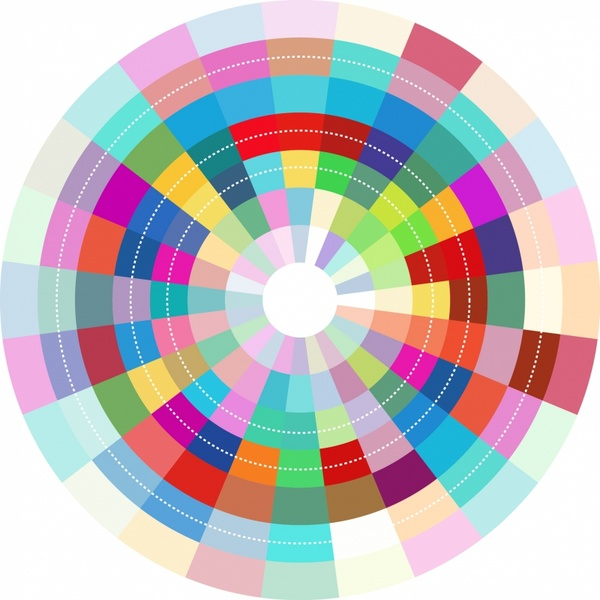 600x600 Colorful Abstract Circle Design Free Vector In Adobe Illustrator