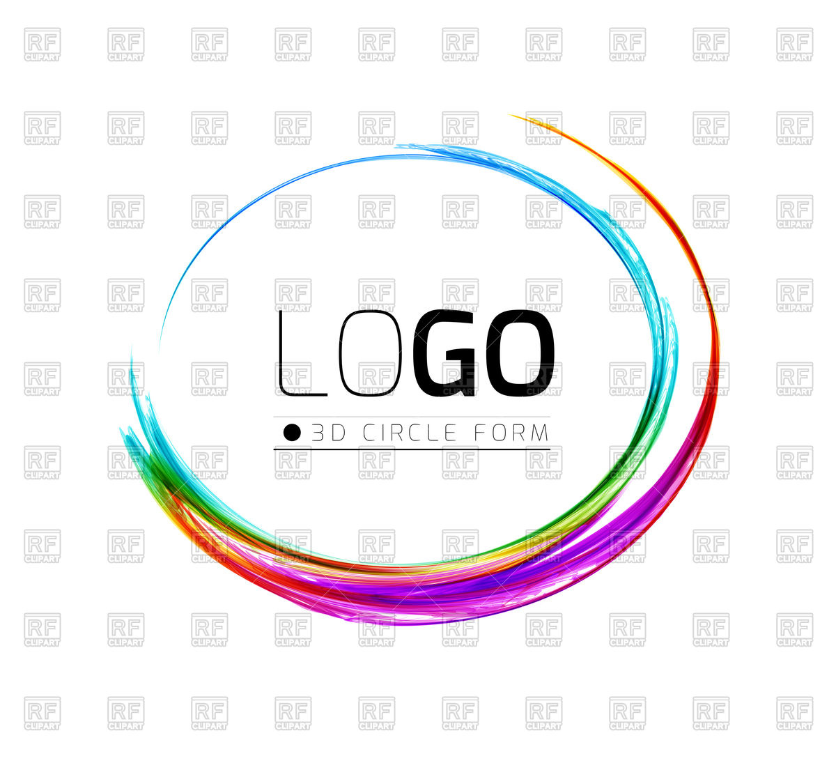 1200x1095 Colorful Circle Design Element Vector Image Vector Artwork Of