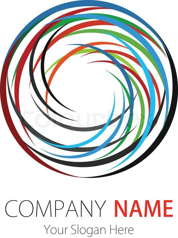 599x800 Company (Business) Logo Design, Vector, Circle Stock Vector