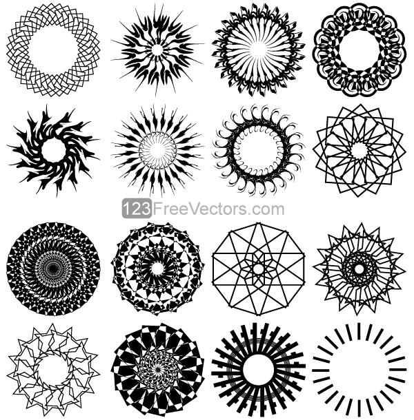 600x610 Free Geometric Circle Design Vector Art Psd Files, Vectors