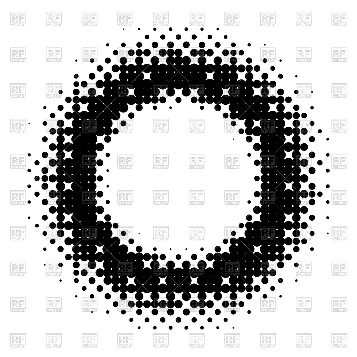 1200x1200 Halftone Circle Design Vector Image Vector Artwork Of Design
