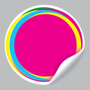 300x300 Pink Vector Sticker