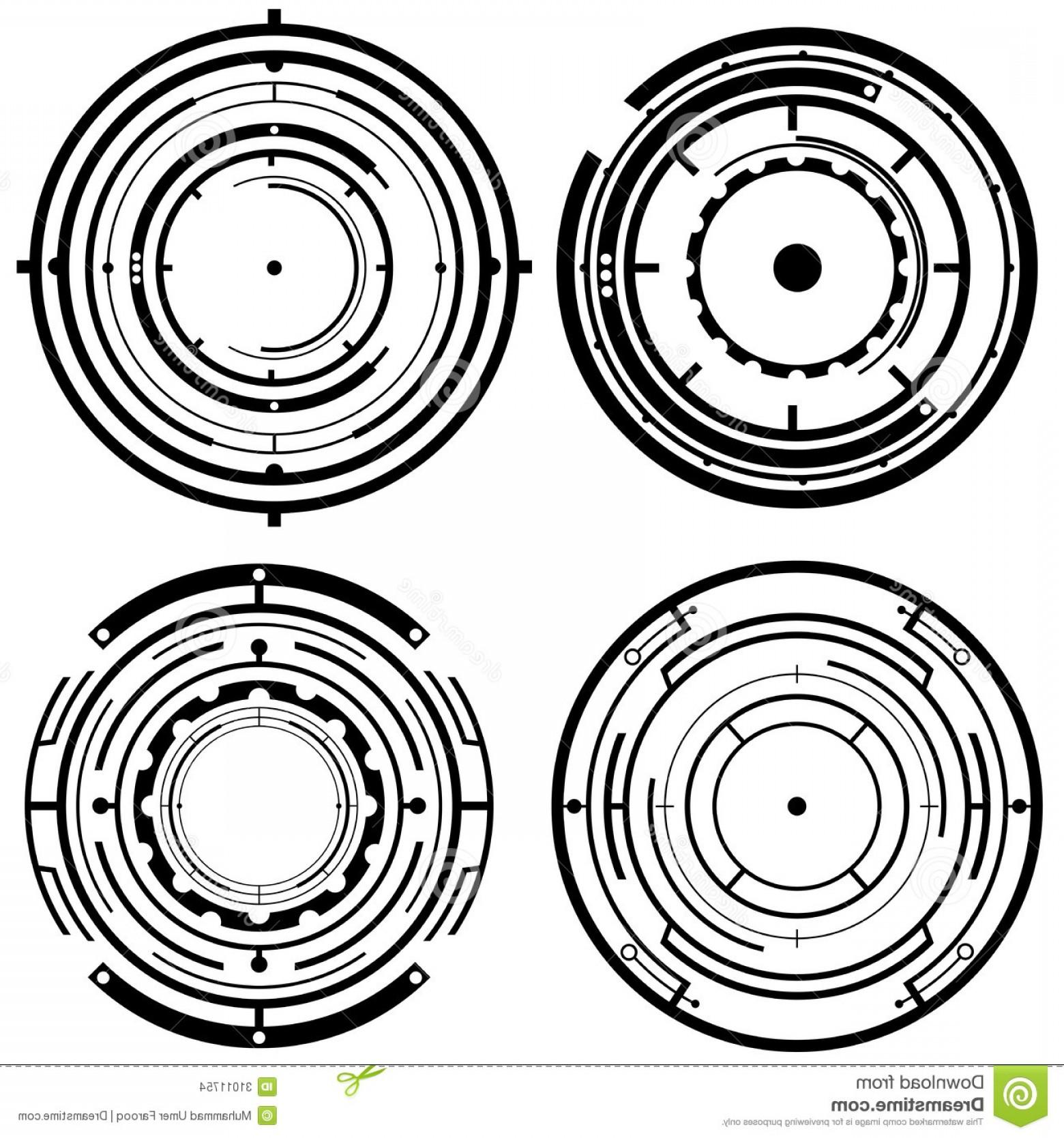 1560x1668 Stock Images Futuristic Tech Circles Four Vector Circle Designs