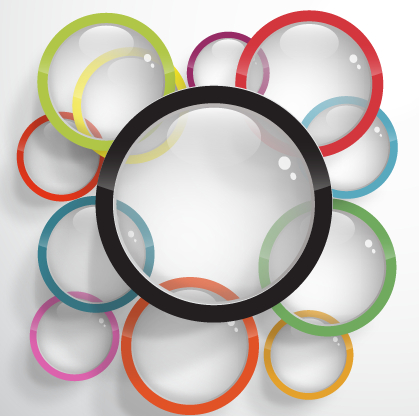 419x416 Bright Glass Circle Design Background Vector 02 Free Download