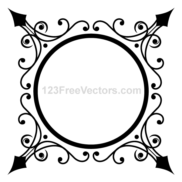 600x600 Free Circle Ornate Frame Psd Files, Vectors Amp Graphics