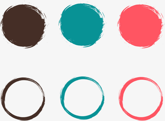650x478 Painted Circular Frame Vector Material, Brush, Dynamic Ink, Ink