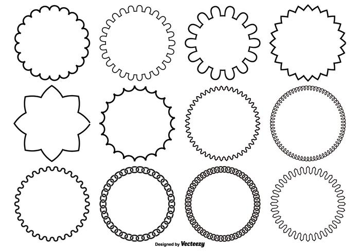 700x490 Circle Frame Free Vector Art