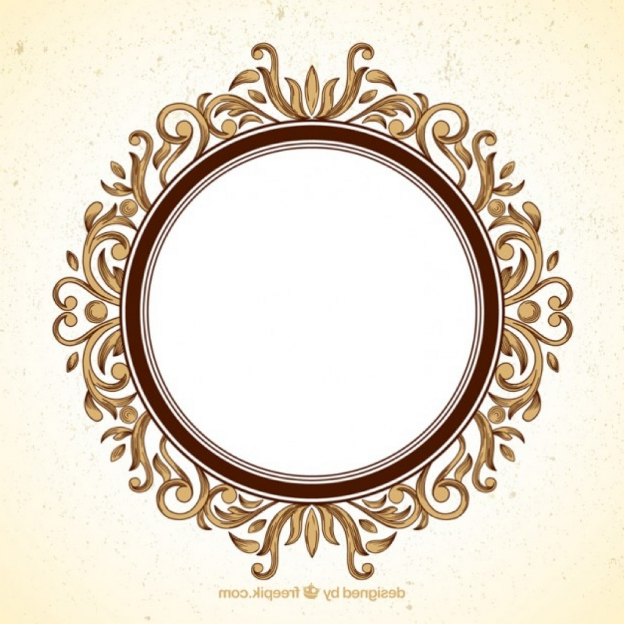 1228x1228 Round Ornamental Frame Vector Premium Download Throughout Circle